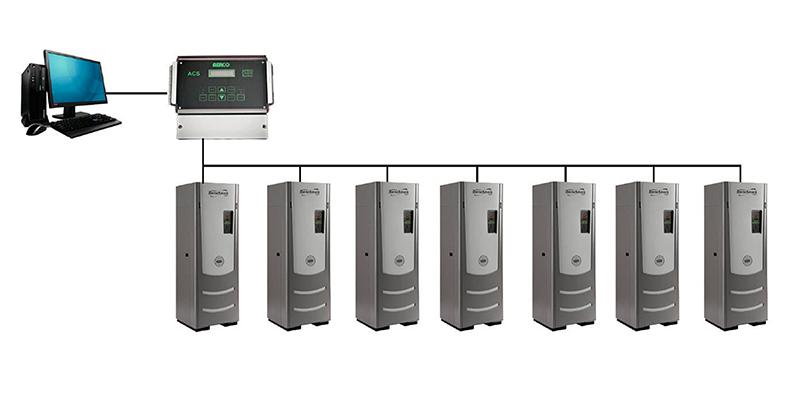 aerco сеть управления котлами с применением контроллера ACS