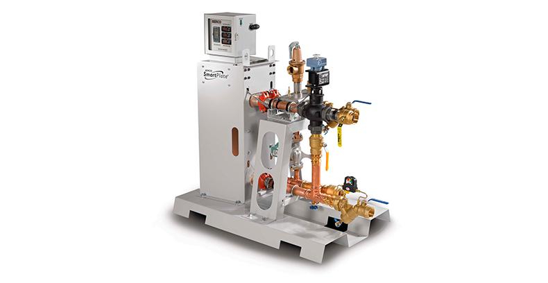 aerco водонагреватель c одно-стенным паяным пластинчатым теплообменником SmartPlate