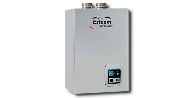 aerco настенный конденсационный газовый котл серии esteem 399 с низким выбросом NOx